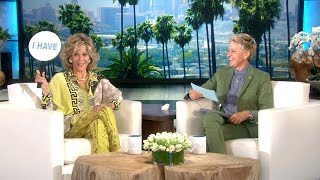 Jane Fonda and Ellen Play 'Never Have I Ever'