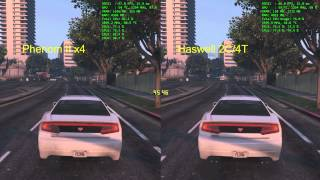 "Phenom II x4 vs ""i3"" + GTX770 - GTA 5"