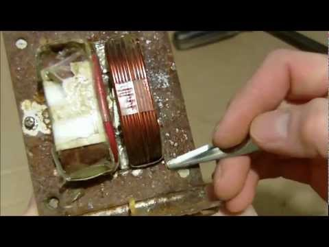 Rewiring of microwave Transformer (MOT) for spot welder how-to
