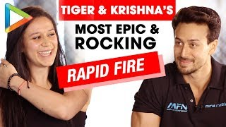 ROCKING: Tiger Shroff & Krishna Shroff's Rapid Fire On Salman, Hrithik, Love & Biopics