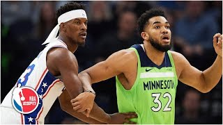 Jimmy Butler booed in return to Minnesota as 76ers defeat Timberwolves | NBA Highlight