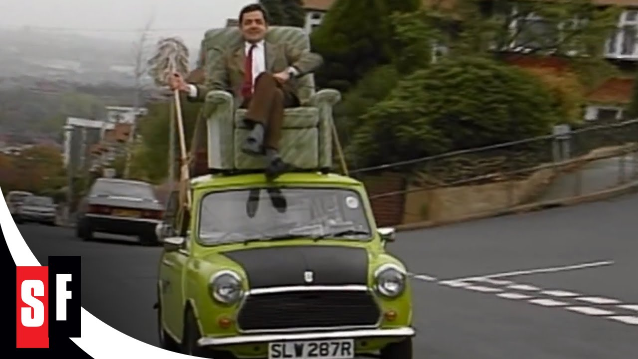 Mr Bean: The Whole Bean - Mr. Bean on a car roof