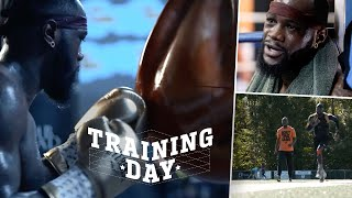 "Training Day: Deontay Wilder adds weight to KO Tyson Fury! ""I broke my hand before the first fight!"""