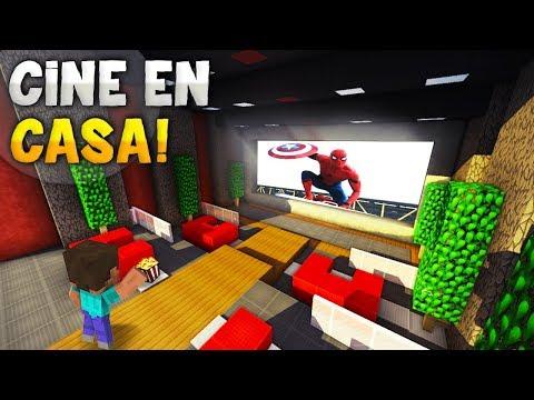 MINECRAFT: COMO HACER TU PROPIO CINE EN CASA QUE REALMENTE FUNCIONA! | CINE EN CASA