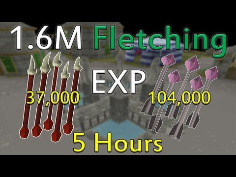 INSANE 1.6M Fletching Exp In Under 5 Hours (100K Cost/HR) [Old School Runescape]