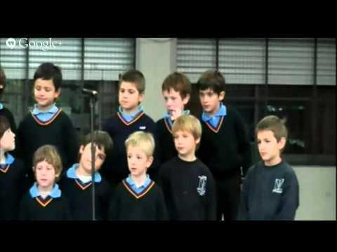 Presentación de coros a padres. Primario. Colegio San Juan