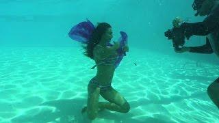 ¡Diosas submarinas! Clarissa y Lisandra tuvieron una sesión fotográfica debajo del agua