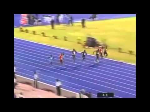 Yohan Blake Beats Bolt and Powell in 9.75 - 100m Finals - Jamaica Olympic Trials