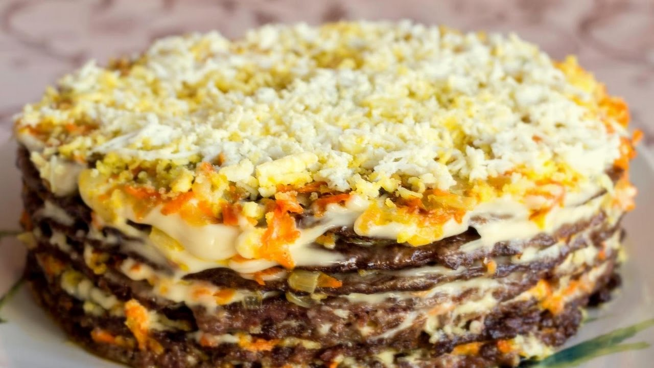 Как сделать печеночный торт из куриной печени рецепт пошагово
