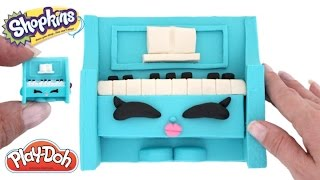How to Make Polly Piano with Play-Doh * Shopkins Season 5 * Play Dough Art * RainbowLearning