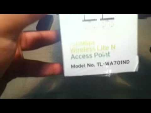 TP-Link Access Point TL-Wa701ND 150Mbps lite N UnBoxing - Arabic