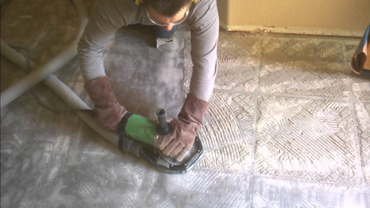 Removing a ceramic tile floor