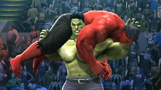 HULK VS RED HULK - Hell In A Cell Match - EPIC Battle - WWE 2K14