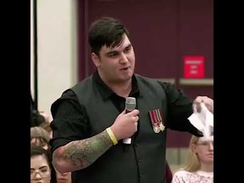 Trudeau's Edmonton Townhall - Veteran Question