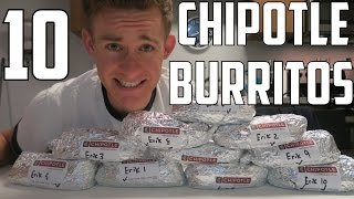 One Man vs TEN CHIPOTLE BURRITOS | ErikTheElectric