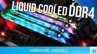 Liquid Cooled Samsung B-Die Memory, Pointless? How Hot Does DDR4 Actually Get?