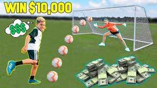 LAST To SCORE A GOAL Wins $10,000 CHALLENGE! | The Royalty Family