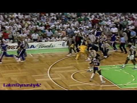 "Magic Johnson 1987 Finals: Gm 4 vs. Boston Celtics, ""Skyhook Game"""