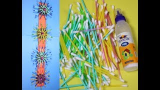 DIY Home Decor Crafts With Cotton Buds || cotton buds Wall Hanging |New Diy 2019| New craft 2019