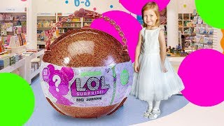 LOL Surprise Giant Ball Big & Lil Sisters Baby Dolls 50 Surprises Blind Bags + Bath Fizz Charms