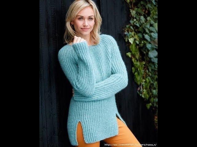 Длинный Пуловер - спицы - 2019 / Long Pullover Knitting Needles