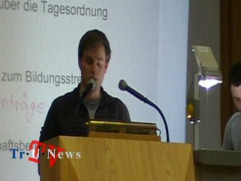 Bildungsstreik gescheitert? - Vollversammlung an der Uni Trier am 09.06.2010