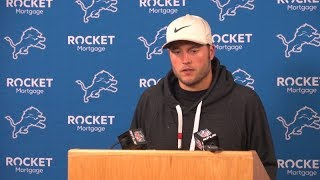 Matthew Stafford on performance against Packers