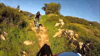 MTB Bike Portugal, Mountain Sintra, descida ao Abano 7-12-2014 com Gopro