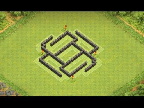Clash of clans th5 hybrid quot trap quot base youtube