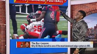 Nate Burleson breaks down why Browns defensive end Myles Garrett is a top edge rusher in NFL