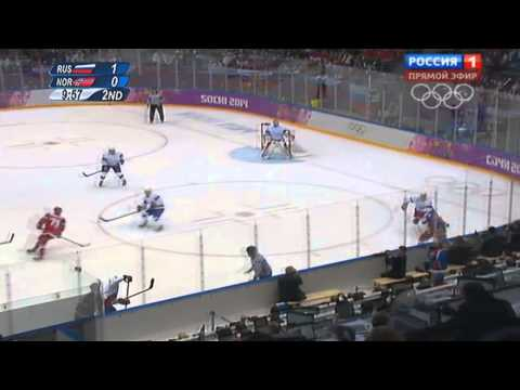 XXII зимние Олимпийские игры Хоккей Мужчины Россия(2) Норвегия(0) (2)тайм