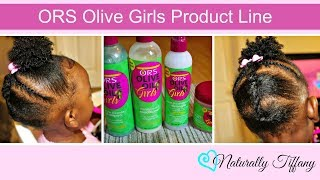 How I Style my 2 Year Old's Type 4 hair! | ORS Olive Oil Girls Product Line