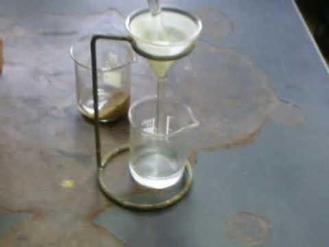 Filtración de agua y arena