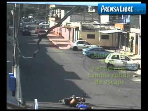 Cámara capta momento en que ocurre un asesinato en Guatemala