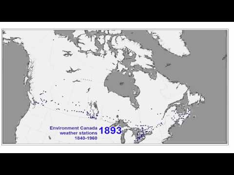 Environment Canada Weather Stations, 1840-1960