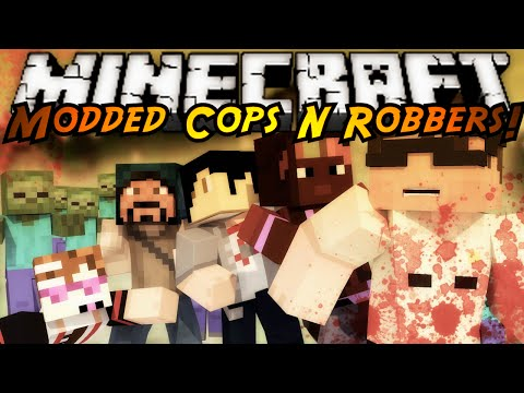 Minecraft Modded Cops N Robbers : THE WALKING DEAD!