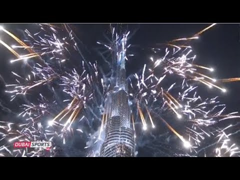 6 Million $ Full Leight Dubai New Year's Eve 2014 - Guiness World Records Fireworks HD 1080p