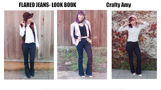 Styling Flared Jeans Look Book| Crafty Amy