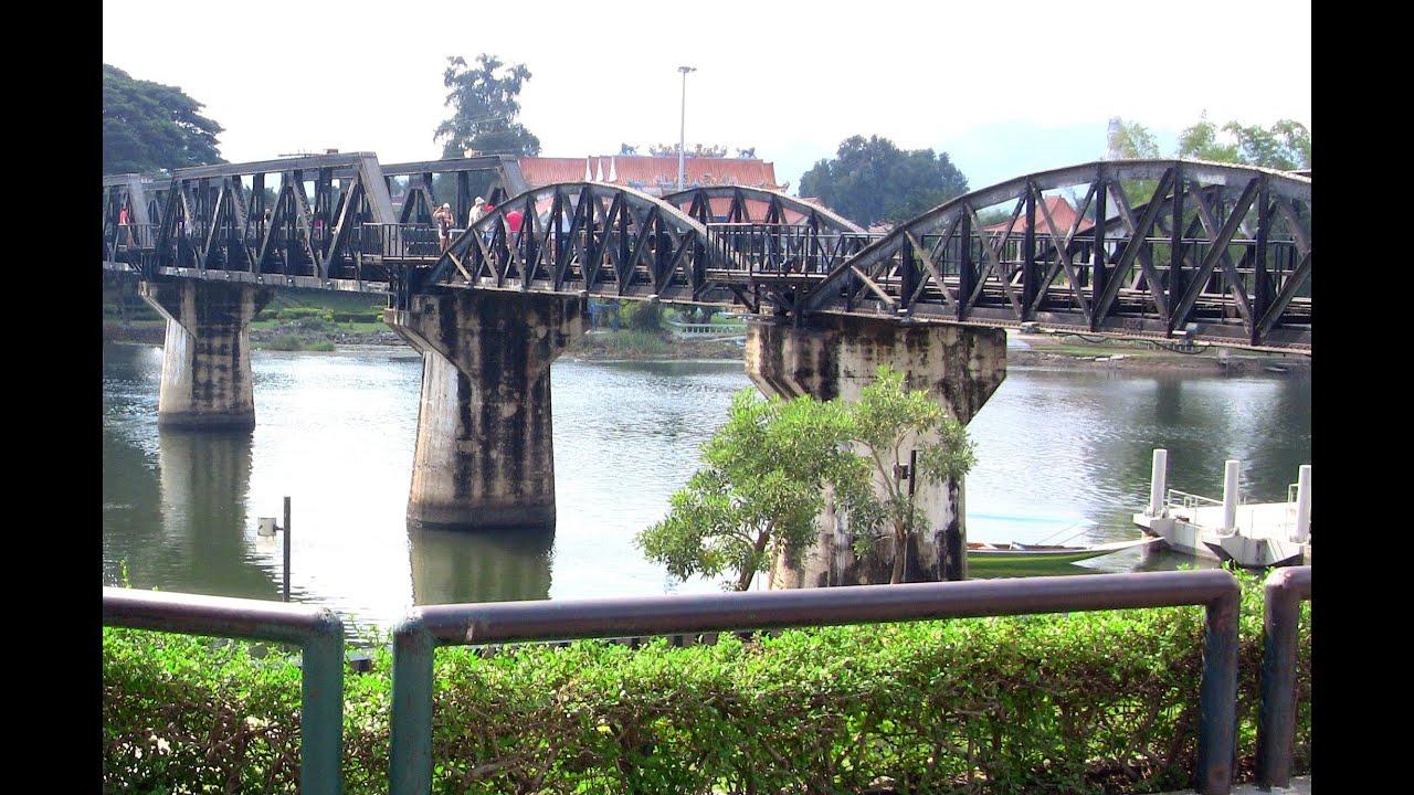 Bridge over River Kwai & Kanchanaburi War Cemetery Thailand กาญจนบุรี - Y...