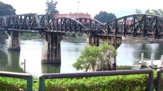 Bridge over River Kwai & Kanchanaburi War Cemetery Thailand กาญจนบุรี