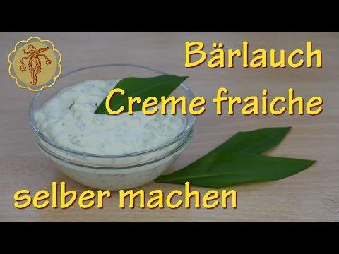 Bärlauch Creme Fraiche selber machen - ein leckerer Dip mit feinem Knoblaucharoma