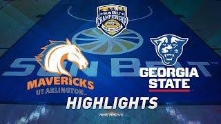 2019 Sun Belt Men's Basketball Championship Game Highlights: No. 2 UTA vs. No. 1 Georgia State