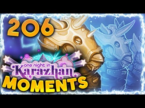 Hearthstone Karazhan Daily Funny and Lucky Moments Ep. 206 | Hearthstone Interaction King!!!