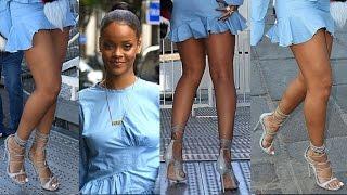 Rihanna in a Sexy Mini Dress