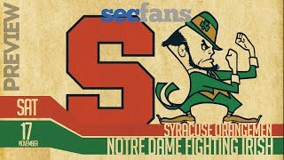 Notre Dame vs Syracuse - Preview & Prediction (Computer Model) College Football 2018