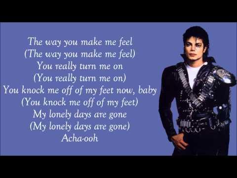 Michael Jackson - The Way You Make Me Feel Lyrics Video