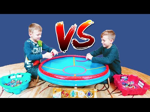 Play beyblade Big BeyStadium Бейблэйд Бёрст на огромной арене Cho-Z Customize Set