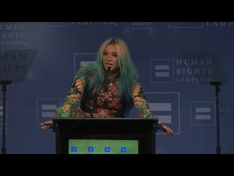 Kesha Receives the HRC Visibility Award