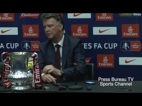 Louis Van Gaal reaction Crystal Palace vs Manchester United FA CUP