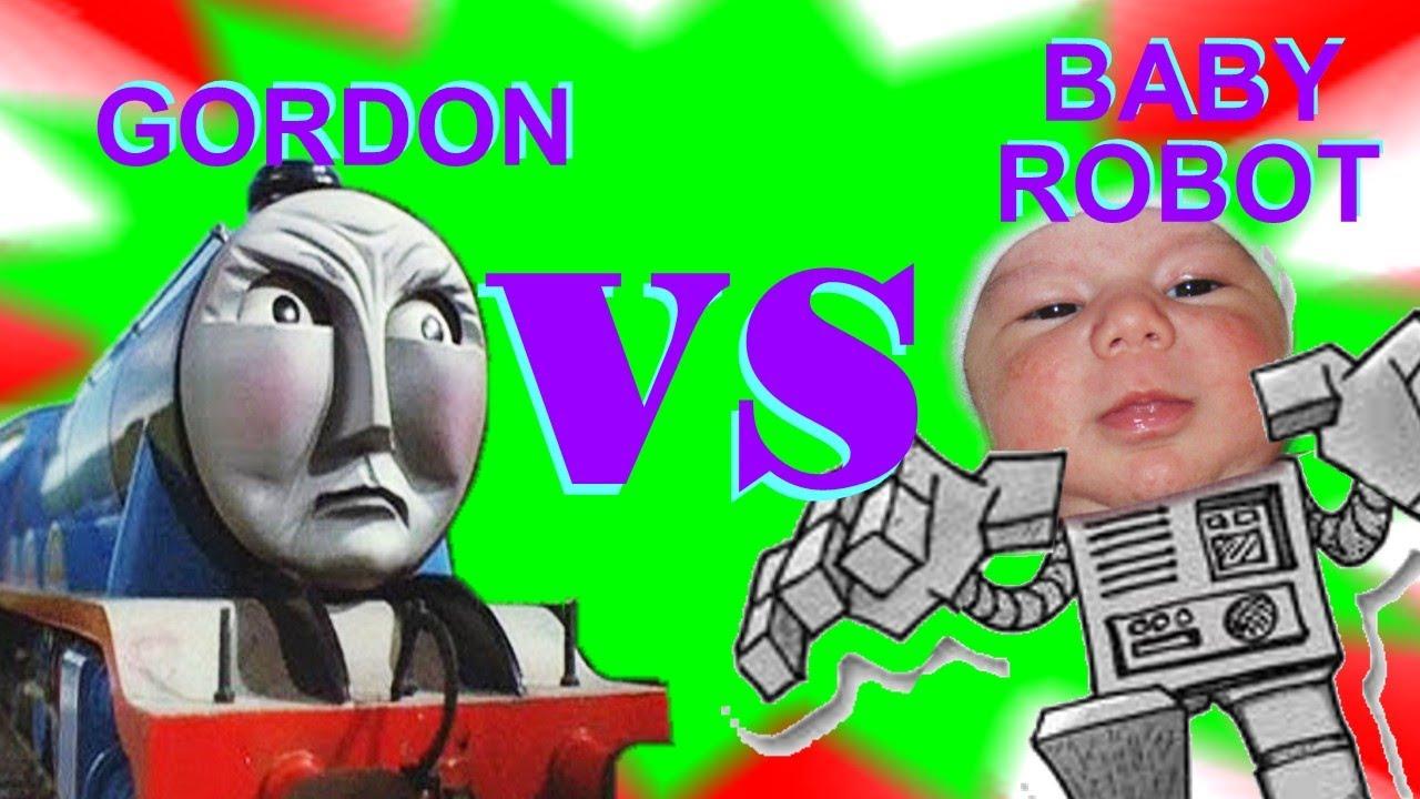thomas the train gordon vs baby robot